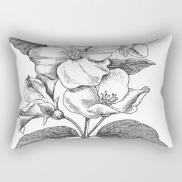 Vintage Flowers Bush Rectangular Pillow