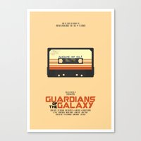 guardians of the galaxy Canvas Prints featuring Guardians Of The Galaxy by Hitsville