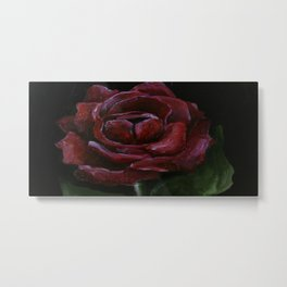 Flower, red rose, gothic beauti Metal Print