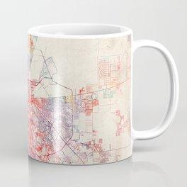 El Paso map Texas painting Coffee Mug