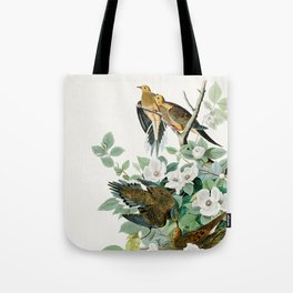 Carolina Turtle Dove, Birds of America by John James Audubon Tote Bag