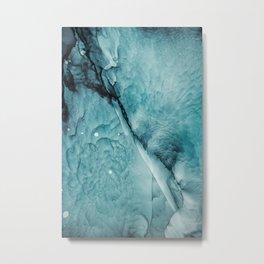 Ocean Waves Abstract Painting   Turquoise art   Sea Metal Print