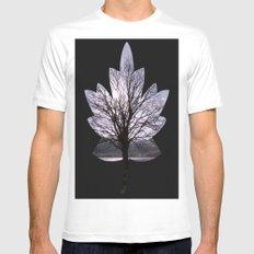 Leaf Tree MEDIUM White Mens Fitted Tee