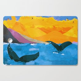 Two whales Cutting Board