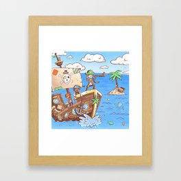 Even Pirates Need to Listen Framed Art Print