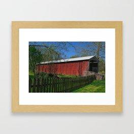 Red Run Covered Bridge  Framed Art Print