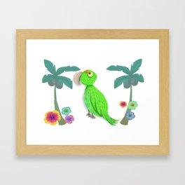 Parrot Bibi Beach Framed Art Print