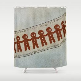 Gingerbread and Christmas Shower Curtain