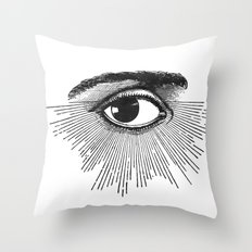 I See You. Black and White Throw Pillow