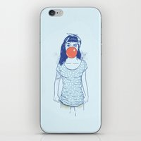 pin up iPhone & iPod Skins featuring pin up by Balazs Solti