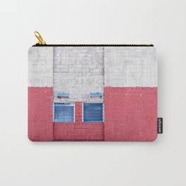 Abstract Composition in Red White Blue Carry-All Pouch