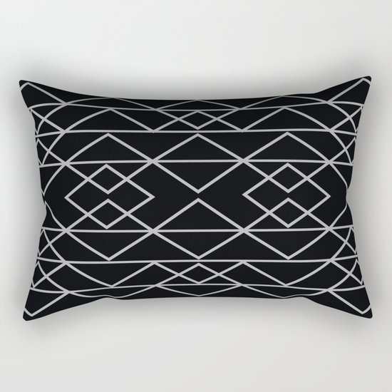 Triangles In Silver Rectangular Pillow