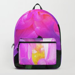 Stunning Pink and Purple Cactus Dahlia Backpack