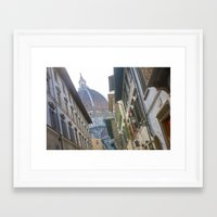 florence Framed Art Prints featuring FLORENCE by Halina  Jasińska photography