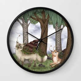 Catsnail I / Katzenschnecken I Wall Clock