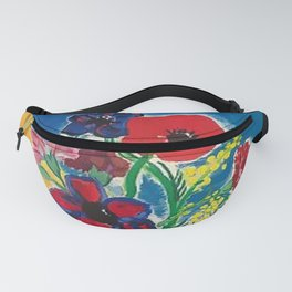 1947 Cote d'Azur French Riviera Vintage World Travel Fanny Pack