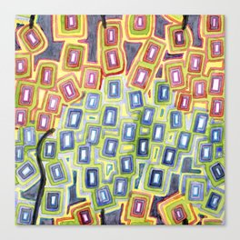Pattern with few Restraining Black Lines Canvas Print