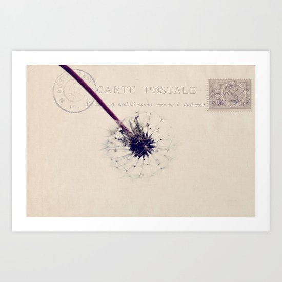 sending wishes Art Print