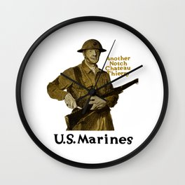 Marines -- Another Notch Chateau Thierry Wall Clock
