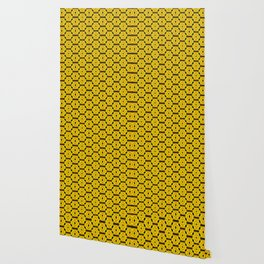 Buttons and Bows - Yellow Wallpaper