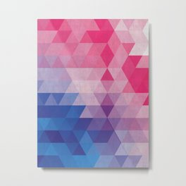 Minimalist blue and pink degrade Metal Print