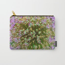 Purple Flower Close Up of Alliums Welcome to Boston Common Carry-All Pouch