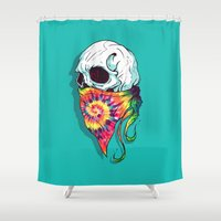 hipster Shower Curtains featuring Hipster by Steven Toang