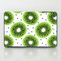 kiwi iPad Cases featuring Kiwi by beach please