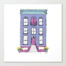Periwinkle Row House Canvas Print