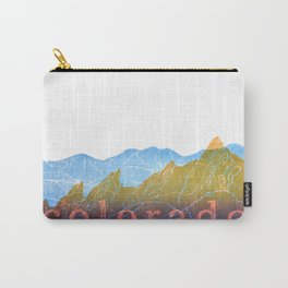 Colorado Mountain Ranges_Boulder Flat Irons + Continental Divide Carry-All Pouch