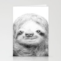sloth Stationery Cards featuring Sloth by Eric Fan