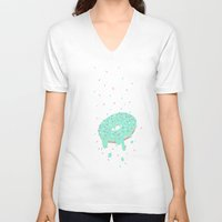 sprinkles V-neck T-shirts featuring donut sprinkles by ptero
