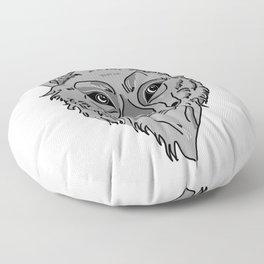 Moony-Eyed Wolf Floor Pillow