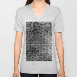 Three Dimensional cubes Unisex V-Neck