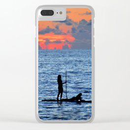Together on the ocean Clear iPhone Case