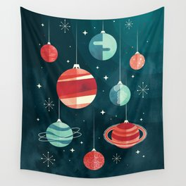 Joy to the Universe (in Teal) Wall Tapestry