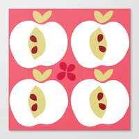 apple Canvas Prints featuring apple by ottomanbrim