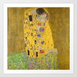 Gustav Klimt The Kiss Detail Art Print