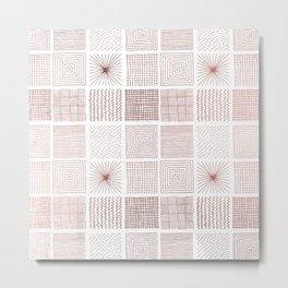 Modern faux rose gold abstract geometrical pattern Metal Print