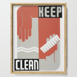 Keep Clean - Healthcare WPA Print - Circa 1937 Serving Tray
