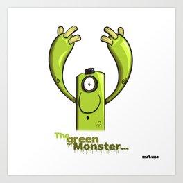 THE GREEN MONSTER... Art Print