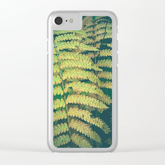 Woodland Fern Clear iPhone Case