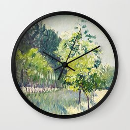 """Gustave Caillebotte """"Allée bordée d'arbres - Alley lined by trees"""" Wall Clock"""