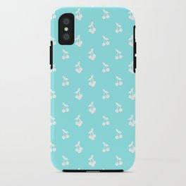 Blue cherries iPhone Case