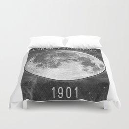 1901 Lunar Expedition Poster Duvet Cover
