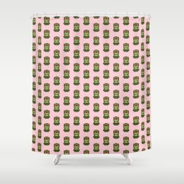 Chibi Raphael Ninja Turtle Shower Curtain