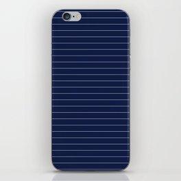 Navy Blue Pinstripes Lines Minimal iPhone Skin