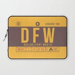 Luggage Tag B - DFW Dallas Fort Worth USA Laptop Sleeve