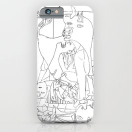 Picasso Line Art - Guernica iPhone Case