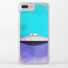 Unidentified Flying Object - UFO Clear iPhone Case